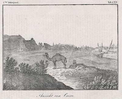 Kahira - Kairo, litografie, (1860)