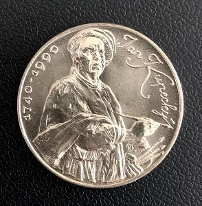 🌶Vzácná stříbrná mince 100 Kčs 1990 Jan Kupecký, perfektní stav!