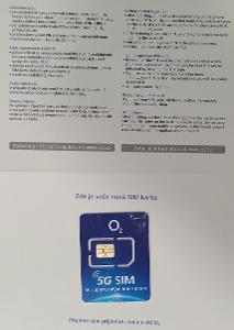 SIM karta O2 Datamánie 100 GB/300 Kč měsíc, nová, neaktivovaná