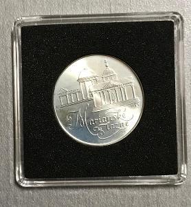 Stříbrná MINCE 50 KČS MARIÁNSKÉ LÁZNĚ 1991 - PERFEKTNÍ STAV