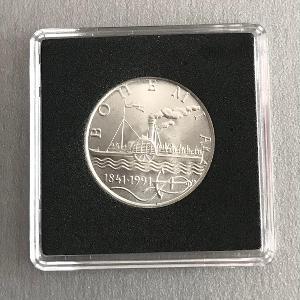 Stříbrná mince 50 Kčs Parník Bohemia 150. výročí 1991 - Perfektni