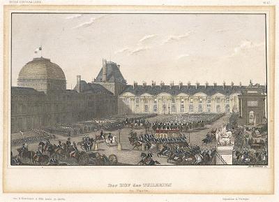 Paris Tuilerien, Meyer, kolor. oceloryt, 1850