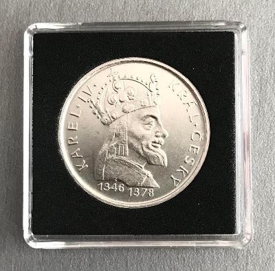 Stříbrná mince100 Koruna 1978 - Karel IV. Perfektní stav!