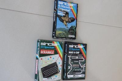 3x Sinclair ZX Spectrum software - SURVIVAL + SCRABBLE + MAKE a CHIP