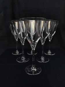 Vintage sklenice na víno - 6 ks, Cristal d´Arques