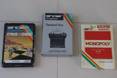 CYRUS CHESS + MONOPOLY + TASWORD 2 - SET na Sinclair ZX Spectrum 48k