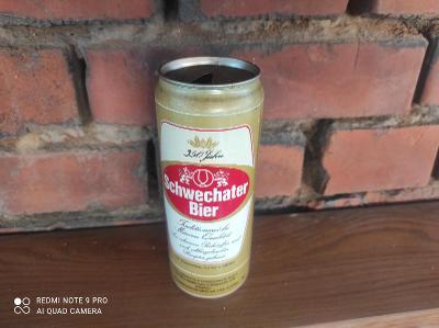 Stará plechovka Schwechater Bier 1990