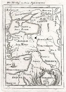 Turecko, Mallet, mědiryt, 1719