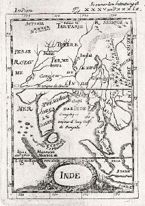Indie, Mallet, mědiryt, 1719