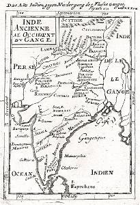 Indie Ganga, Mallet, mědiryt, 1719