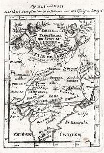 Empire Mogol, Mallet, mědiryt, 1719