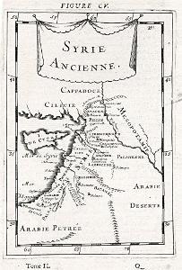 Sýrie I., Mallet, mědiryt, 1719