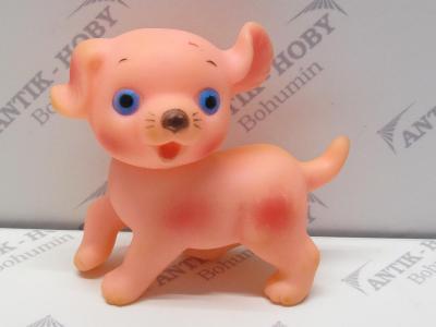 Stará gumová pískací hračka - PEJSEK
