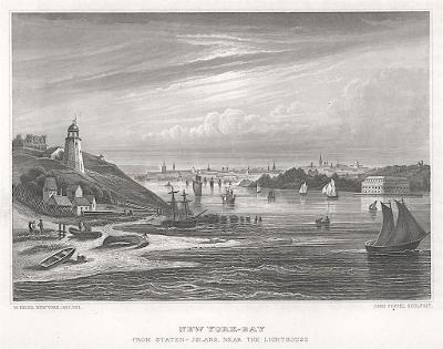 New York Bay Staten , Meyer, oceloryt, 1850