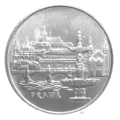 Vzácná stříbrná mince 50 Koruna 1986 město Praha, Perfektní stav !