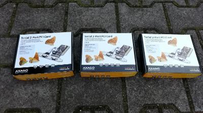 AXAGO PCI Karta se dvěma sériovými porty - 3ks