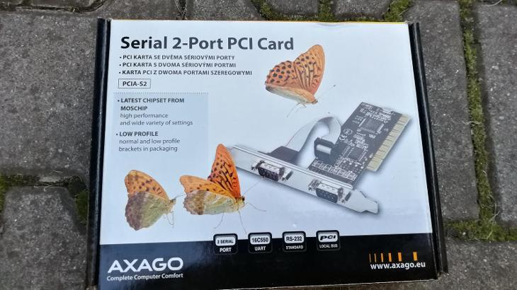 AXAGO PCI Karta se dvěma sériovými porty - 3ks - PC komponenty