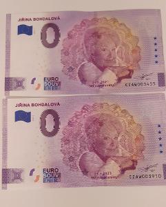 0 Euro Souvenir Česko 2021 - JIŘINA BOHDALOVÁ