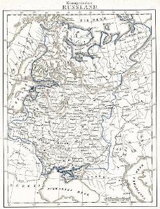 Russland, Brockhaus,  mědiryt 1730