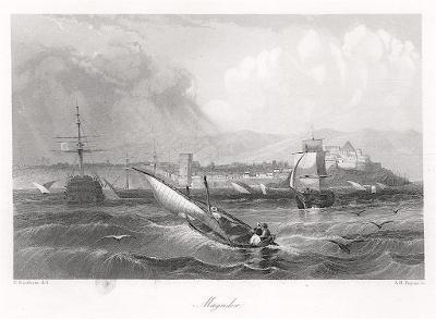 Magador Maroko, Payne, oceloryt 1860