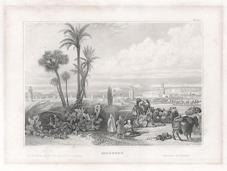 Maroko, Meyer, oceloryt, 1850 - Antikvariát