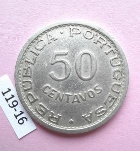 Angola portugalská kolonie - 50 centavos 1950