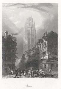 Rouen II., Payne,oceloryt, 1860