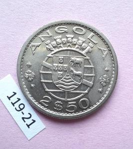 Angola - Republika Portugalská - 2.50 escudo 1969 UNC
