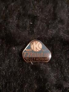 Odznak TJ KAUČUK KRALUPY 70 let kopané 1901 -1971
