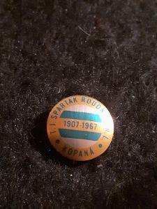 Odznak TJ SPARTAK ROUDNICE N.L., výroční  60 let 1901- 1961