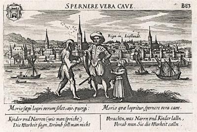 Riga, Meissner, mědiryt, 1637