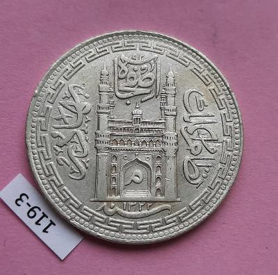 1 Rupie 1322 (1904) Hyderabad Indie - Ag stříbro