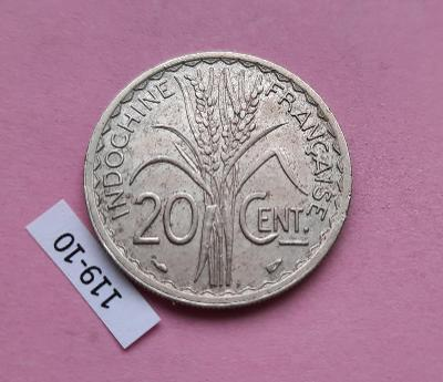 Francouzská indočína 20 cent 1939