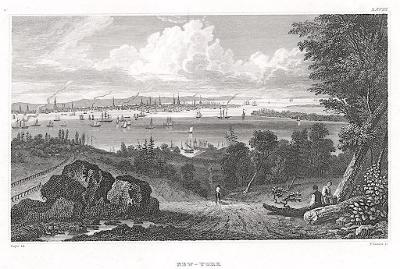 New York, Meyer, oceloryt, 1850