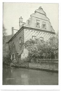 Česká Lípa  Červený dům s mlýnským náhonem rok 1924 reprint