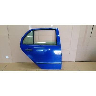 Skoda Fabia I HB 99- drzwi tylne prawe niebieskie