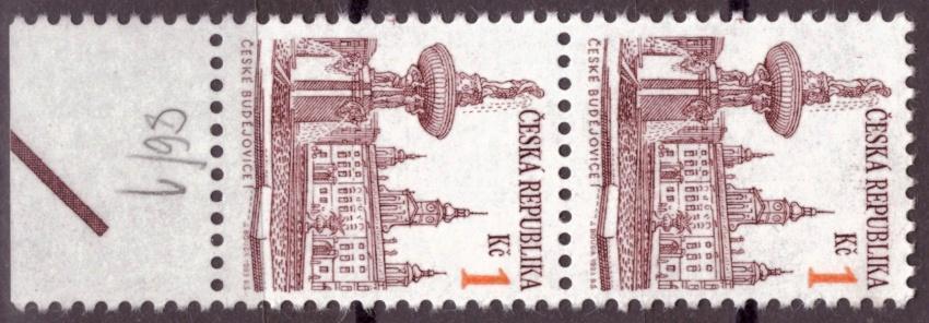 POF. 12 - MĚSTA 1 KČ - KRAJOVÁ 2-PÁSKA S DV 86/1 (S3212)