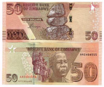 Zimbabwe 50 dol P-new UNC / N