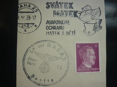 DR REICH ŘÍŠE - SVÁTEK MATEK 11.V.1939 STROJOVÉ PR SST  MATEK A DĚTÍ R