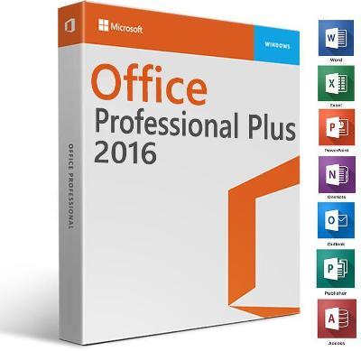Microsoft Office 2016 Professional Plus Retail CZ 32 / 64 Bit