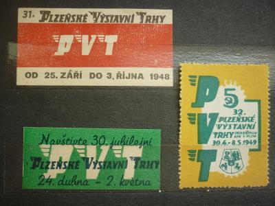 PLZEŇ VÝSTAVNÍ TRHY ZT ZÁLEPKY  1948 - VZÁCNÉ !!!!  R