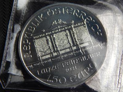 Stříbrná investiční mince WIENER PHILHARMONIKER 1 oz / 2021 / UNC