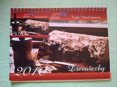Dřevořezby 2010, kalendář stolní a kapesní