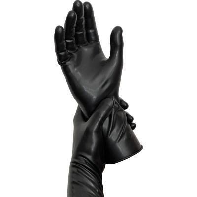 Latexové fetish gumové rukavice černé velikosť 8