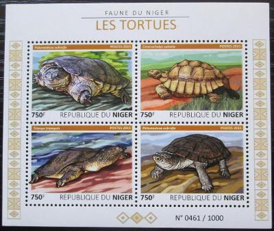 Niger 2015 Želvy Mi# 3763-66 Kat 12€ 2507