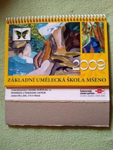 Základní umělecká škola Mšeno 2009, stolní kalendář