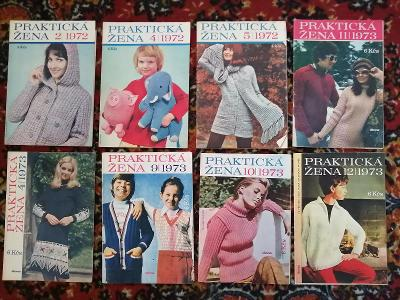 Praktická žena - čísla z let 1972 - 1973 - celkem 8 ks