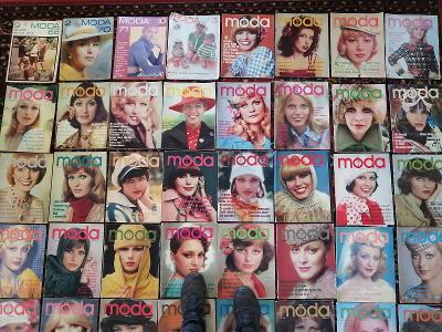 Móda   -  soubor celkem 48 ks časopisů pre ženy !!!!!!!!!!!!!!!!!!!!!!