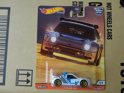 Hot Wheels Ford RS 200 Thrill Climb.Rozbaleno.Krabička je otevřena.