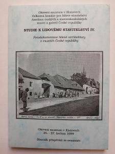 Studie k lidovému staviatelství IV.  Klatovy 1999